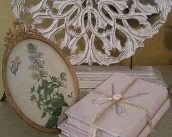 Antique decorative book staging