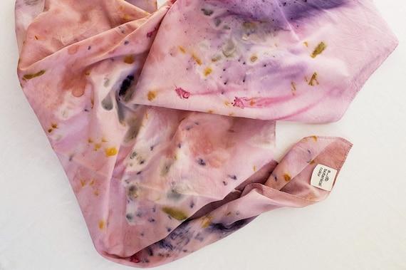 Bundle Dyed Oversized Cotton Gauze Scarf / Plant Dyed / Wrap / Naturally Dyed / Dyed Cotton / Eco Fashion / Lightweight Cotton Scarf