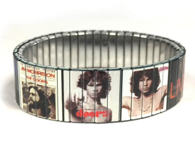 Bracelet Famous 60's rock band, Music, Stainless Steel, Repurpose Watch Band, Stretch Bracelet, Wrist Band, Sublimation, gift for friends