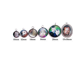 Photo Charm / Photo Pendant / Picture Charm / Picture Pendant / Individual Photo Charms / for Bracelet or Necklace / Photo Jewelry / Photo