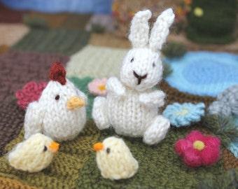 Mini Easter set knitting pattern PDF