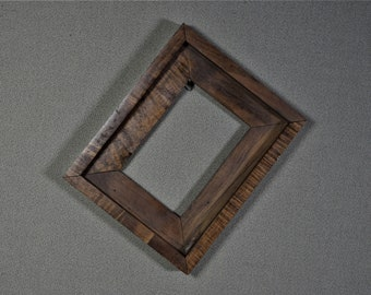 5x7 Frame Rustic Wood with Optional Glass and Matting Complete Kit