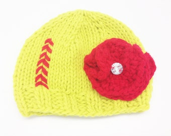 Softball Knit Hat (0-12 months)
