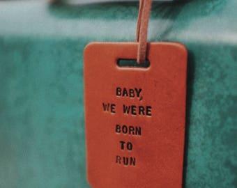 Baby Born to Run Luggage Tag