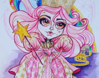 Glinda The Good Oz Storybook Fantasy Witch Art By Leslie Mehl