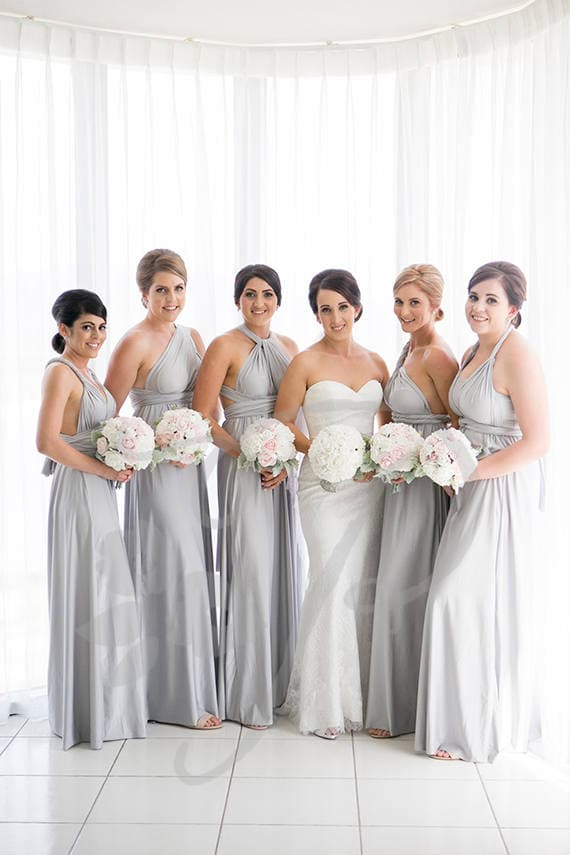 Silver Grey Bridesmaid Dresses