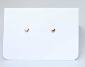Bronze Pebble Earring Studs | Minimalist Stud Earrings | Gift for her