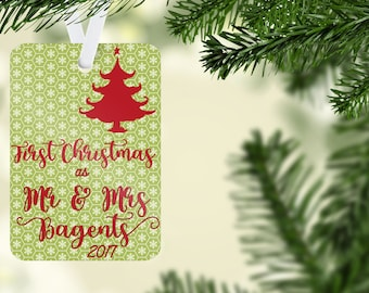 Our First Christmas Ornament, First Christmas Married,  Just Married