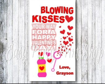 Blowing Kisses Your Way Valentine, Blowing Kisses, Valentine, Blowing Kisses Valentine, Bubble Valentine