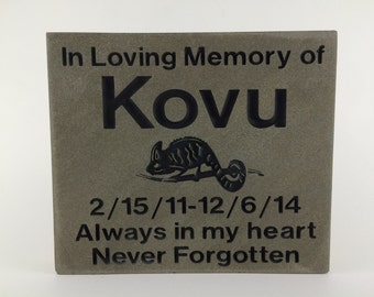 Personalized and polished Pennsylvania Bluestone Pet Memorial Grave Marker Headstone.Let us engrave these with your personal text and images