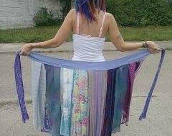 Purple Pixie Upcycled Scarf Wrap