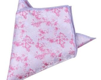 Light Pink Metallic Pocket Square | pink handkerchief | pink wedding | mens pink pocket hanky | pink handkerchief for groom | groomsmen