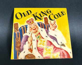 Pop Up Nursery Rhyme Book Card~~Vintage from 1930~~Old King Cole~~Geraldine Clyne NY