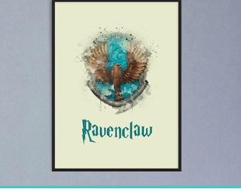 Ravenclaw Crest, Ravenclaw, Harry Potter Gift, Ravenclaw Crest Art, Ravenclaw Art Decor, Ravenclaw Wall Art, Ravenclaw Prints