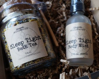 Sleep Tight Gift Set - Organic - Eco Friendly - Lavender Chamomile - Aromatherapy for Relaxation - Gifts for Her - Gifts for Mom