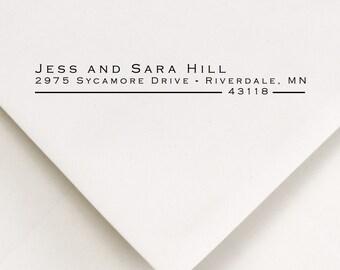 Return Address Stamp - Custom Address Stamp - Personalized Stamp - Self Inking Stamp - Wedding Stamp - Gift - Jess and Sara Design (607)