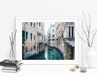 Venice Canal Photograph (Grand Canal Photo, Italy Travel Photography,Wall Art Prints,Printable Art,Italy Digital Prints, Digital Download)