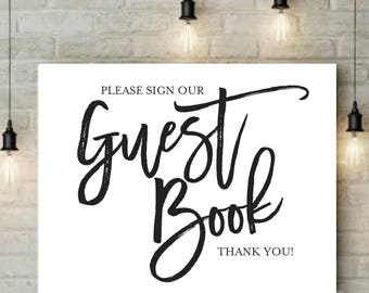 INSTANT Download   Guest Book Sign   Reception Sign   Ceremony Sign   Guest Book   Party Sign   Wedding Sign   Digital Design   8x10