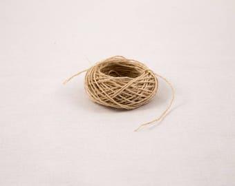 Natural Hemp Yarn 0.8 mm