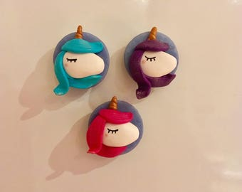 Set of 3 magnets Unicorn