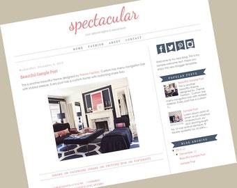 Premade Blogger Template - Responsive blogger template - Blogger Blog theme - Spectacular