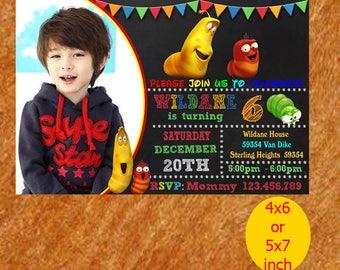 Larva Birthday Invitation, Larva Invitation, Larva Birthday, Larva Party, Larva Printable, Instant Download