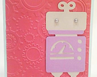 Adorable Robot Card