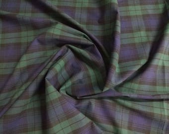 """Black Watch - Flat Weave 100% Cotton Tartan Fabric Material - Double Sided - 147cm (58"""") wide"""