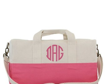 Monogrammed Duffel Bag-Personalized Duffel Bag-Bridesmaid Gift