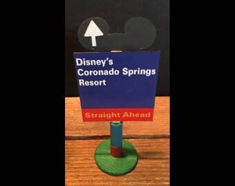 handmade Disney inspired road sign Disney's Coronado Springs Resort