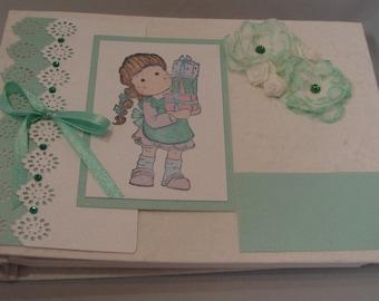 Personalised Photo Album, shabby Chic Photo Album, Birthday Party Guestbook, Flower Girl Scrapbook, Memory Book
