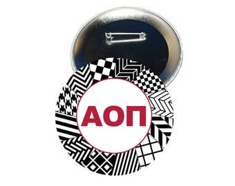 Alpha Omicron Pi Button - Letters