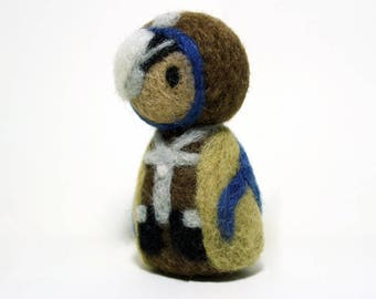 Needle Felted Ana Overwatch Doll [MADE-TO-ORDER]