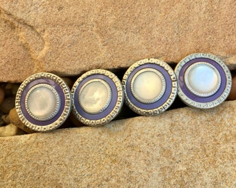 Vintage Lavender Snap Link Cufflinks