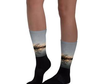 The Sunset Tree Socks