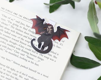 Dragon - Magnetic bookmark - GoT || daenerys, rhaegal, viserion, book lover gift, khaleesi, bookmark, bookish, bookmarks