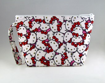 Hello Kitty Makeup Bag - Accessory - Cosmetic Bag - Pouch - Toiletry Bag - Gift