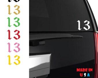 Lucky 13 sticker vinyl decal