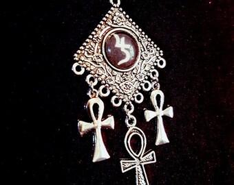 Jusa Ankh necklace - ankh vampire goth gothic sopor aeternus jusa Apep Set saturnus jupiter occult