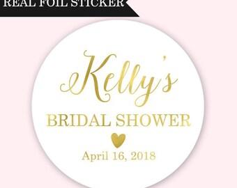 Bridal Shower Stickers - Custom Bridal Shower Stickers - Gold Bridal Shower Stickers - Rose Gold Bridal Shower Labels - Bridal Shower Favor
