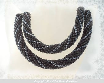 Woven double strand necklace - single model
