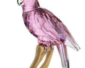 Swarovski Crystal Pink Cockatoo Large Birds of Paradise 718565 Figurine Retired