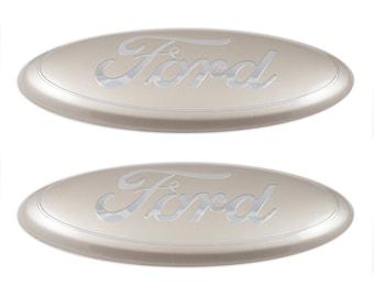 Custom Ford Emblem,Silver & Chrome Logo, 2004-2014 models,F-150 edge ranger 9 inch,front or rear.