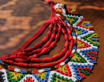 Traditional Ukrainian necklace.