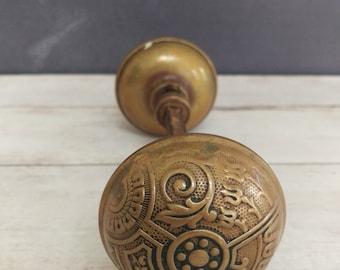 Antique Brass Door Knob, Victorian Door Hardware, Architectural ...
