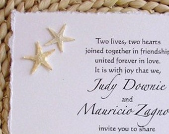 BEACH Starfish Wedding Invitations** Destination Wedding Invitations