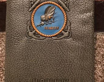 Rare Vintage 1944 WWII Navy SeaBees CB Notebook Embossed Day Planner insert
