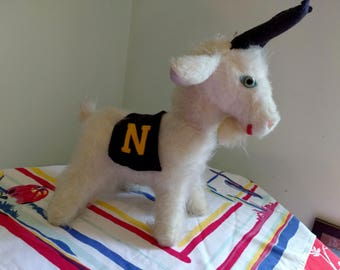 Vintage Elka Toys Navy Goat Mascot Plush Toy 1960s 1970s Retro US Naval Academy Mascot Bill The Goat