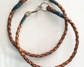 Handmade Leather Wallet Lanyard.