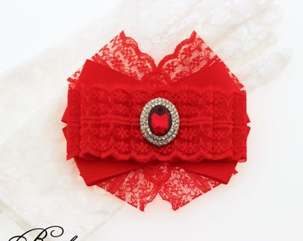 """Brooch """"Red bow"""""""